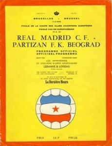 1966 European Cup Final programme