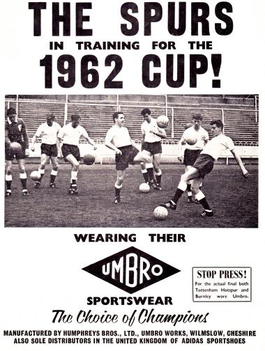 Preparing for the 1962 FA Cup