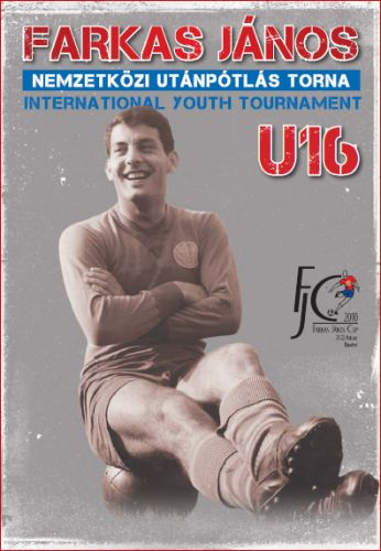 Farkas on the cover of the programme of the International Youth Tournament
