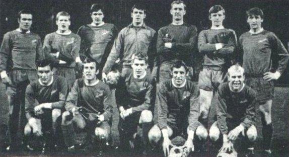 Cardiff City line-up v Torpedo Moscow, 1968