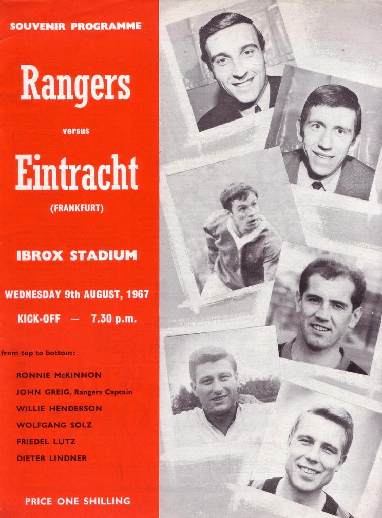 Rangers v Eintracht Frankfurt, Ibrox, August 1968