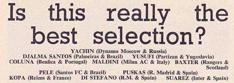 World Soccer 1963 Karması