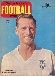 Tom Finney, cover of Charles Buchan's Football Monthly - June 1960