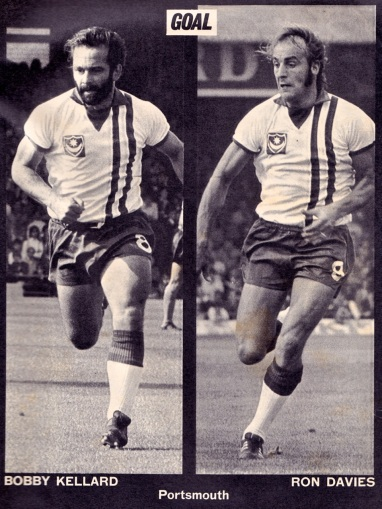Bobby Kellard and Ron Davies, Portsmouth 1973