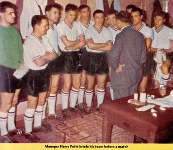 Harry Potts & squad, Burnley 1960