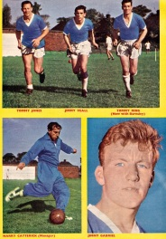 Jones, Veall, Ring, Gabriel and Harry Catterick, Everton 1962