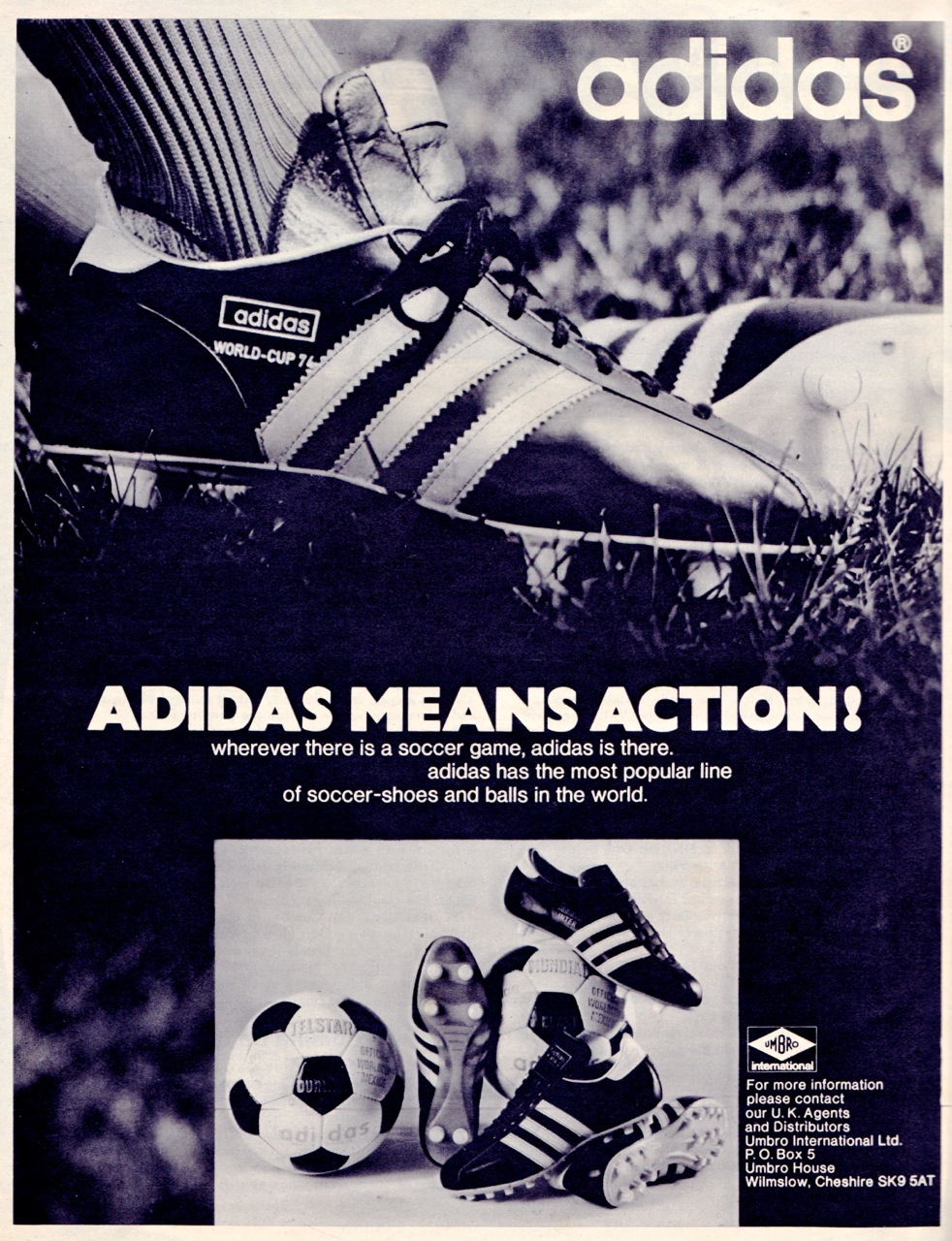 adidas penarol football boots 1970