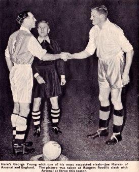 Rangers v Arsenal, 1954