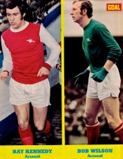 Ray Kennedy and Bob Wilson, Arsenal 1971