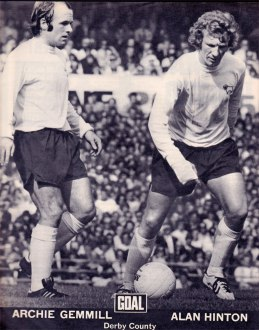 Archie Gemmill and Alan Hinton, Derby Country 1973