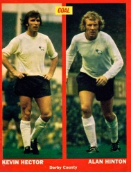 Kevin Hector and Alan Hinton, Derby Country 1973