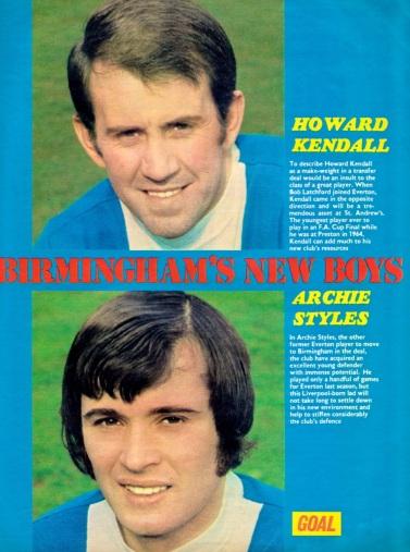 Kendall & Styles, Birmingham City 1974