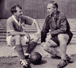 Stanley Mathews and Arthur Kaye, Blackpool 1959