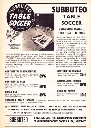 Subbuteo 1963