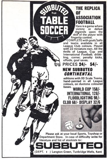Subbuteo 1970