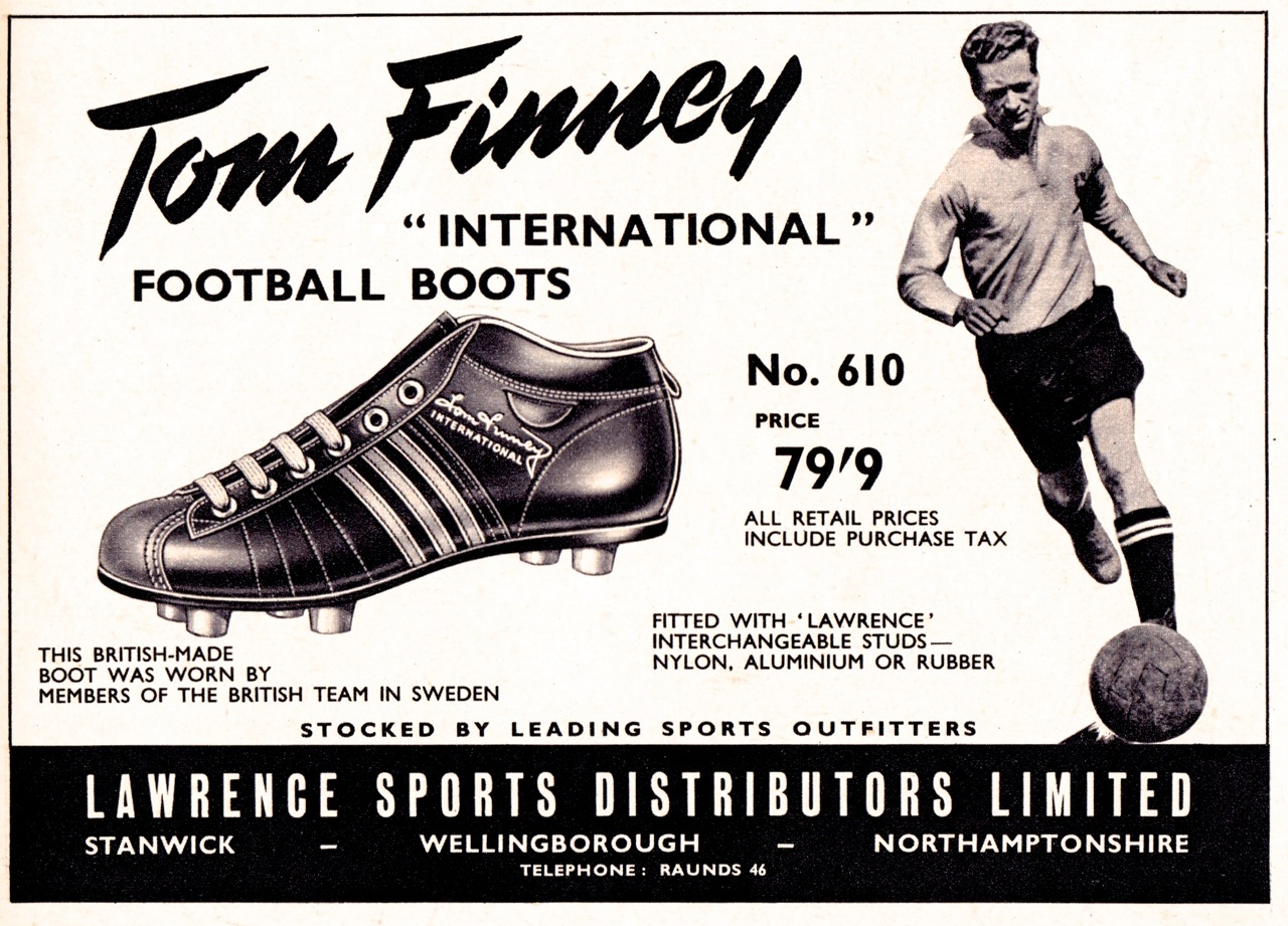 Image result for football adverts 1950s