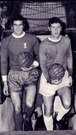 Ron Yeats with Brian Labone, Liverpool 1970