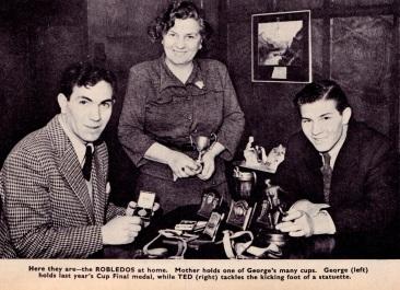 George & Ted Robledo, Newcastle Utd 1951