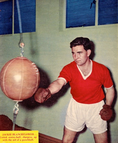 Jackie Blanchflower, Man United 1958