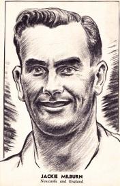 Jackie Millburn, Newcastle Utd 1951