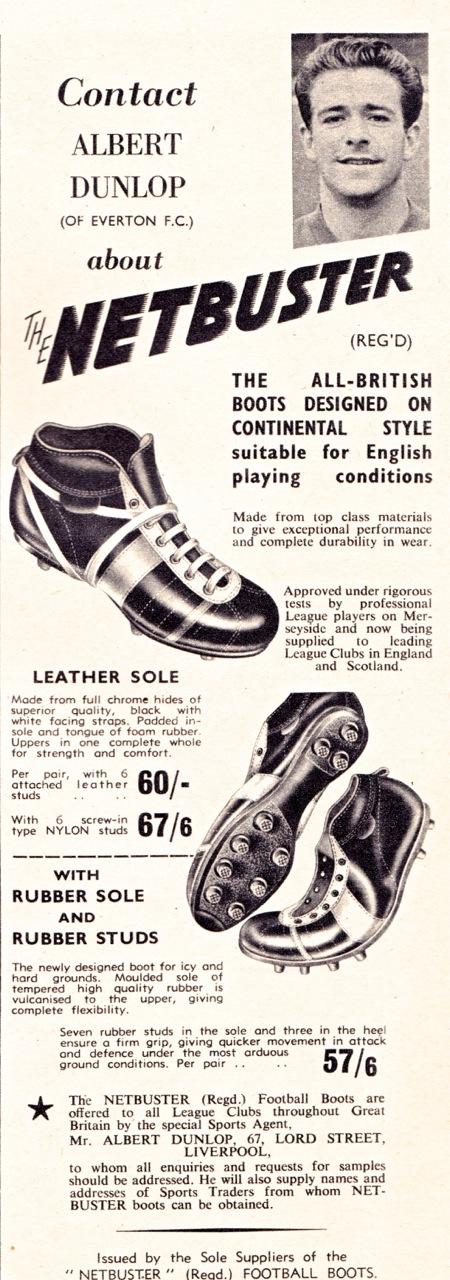 0465335edd9e Retro Football Boots 1951-60   Beyond The Last Man