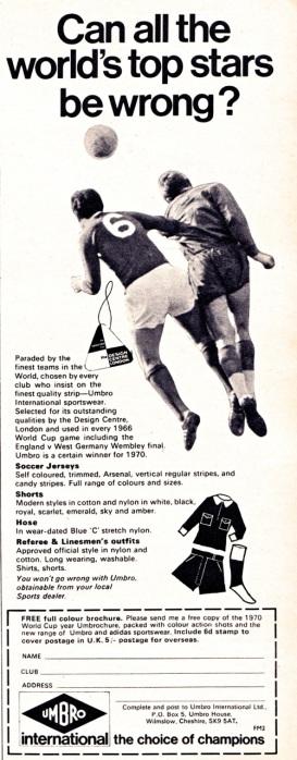 Umbro 1970-3
