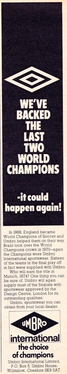 Umbro 1973-2