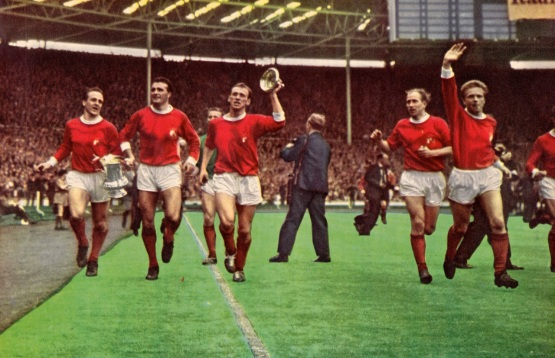 Victorious 1963 Man United FA Cup winners