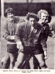 England in training, 1971