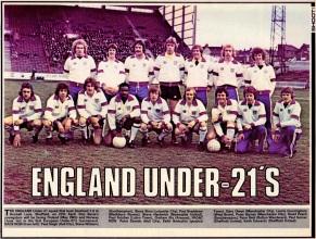 England U21s 1977