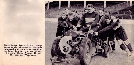 George Young and teammates, Rangers 1954