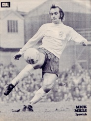 Mick Mills, England 1972