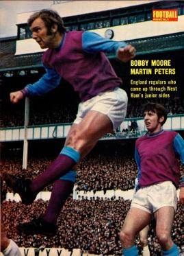 Moore & Peters, West Ham 1969