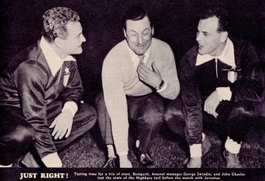 Boniperti & Charles, Arsenal v Juventus, 1959