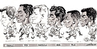 Brazil 1958 World Cup squad cartoons