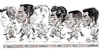 Brazil 1958 World Cup squad cartoons