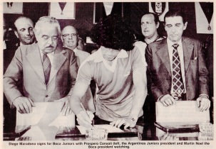Diego Maradona signs for Boca Juniors, 1981