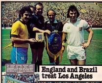 England v Brazil 1976