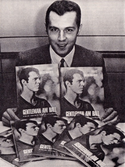 Franz Beckenbauer promotes his book, 1968
