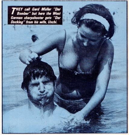 Gerd Muller & wife, 1974