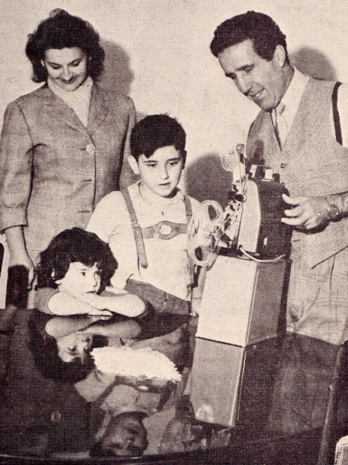 Helenio Herrera and family
