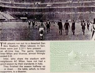 Inter v Vicenza, 1975