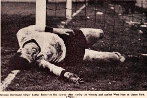 Lothar Emmerich, West Ham v Bor Dortmund 1966