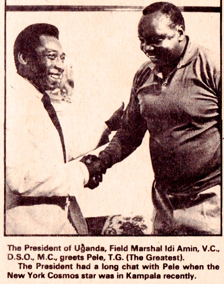 Pele & Idi Amin, 1976 | Beyond The Last Man