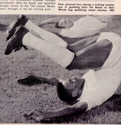 Pele in training for a World Cup qualifier, 1969