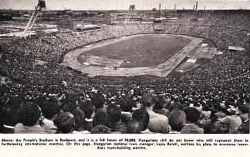 Peoples Stadium, Budapest 1960