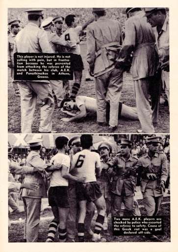 Trouble at AEK Athens v Panathinaikos, 1961