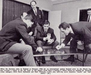 West German team relaxing, 1966