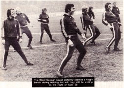 West Germany in training, 1972