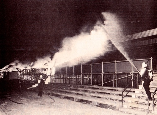 Den Haag main stand on fire, 1982